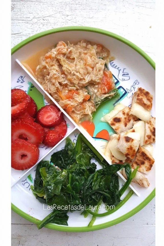 ideas de comida para bebes Corn Dogs, Healthy Eating Habits, Seaweed Salad, Palak Paneer, Snacks, Ethnic Recipes, Cool, Lunches, Bb