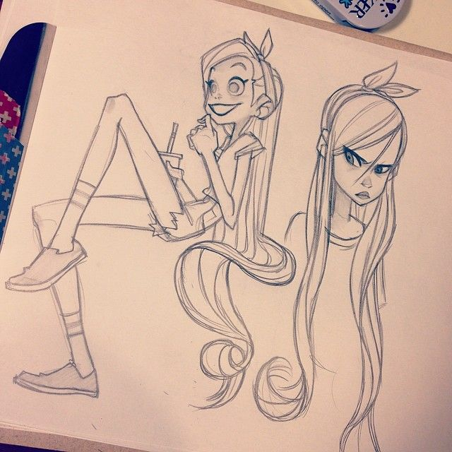 #girls #sketching
