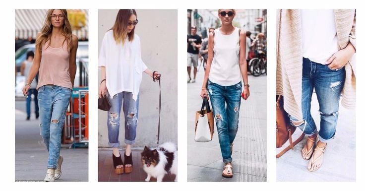 Συνδύασε το boyfriend jean σου με ένα top και τα κατάλληλα παπούτσια για άψογο style πρωί και βράδυ: 🕶️ Με converse, birkenstock ή teva για όλη μέρα 🕶️ Με σανδάλια ή flatforms για απόγευμα και βράδυ  Βρες εδώ 50+ σχέδια σε jeans από 21.70€!