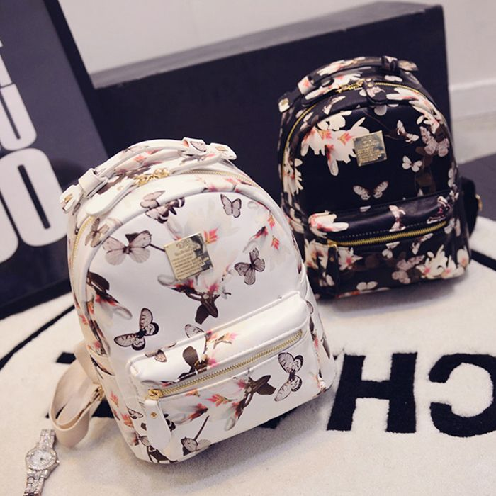 stacy bag hot sale new arrivals girl floral printing backpack lady casual travel backpack leisure bags