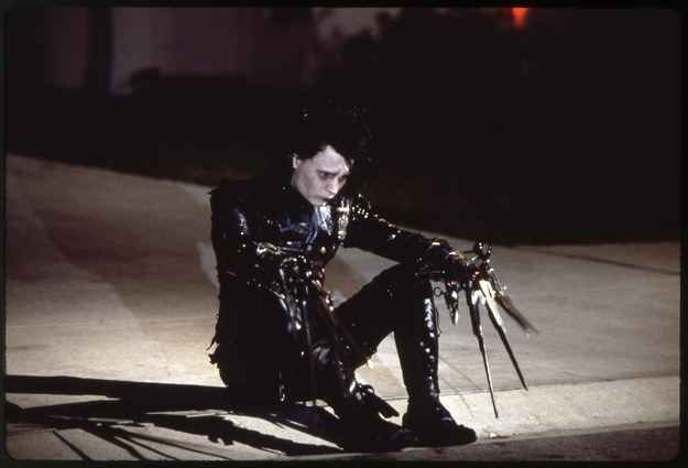 And the name Edward Scissorhands was taken directly from that drawing.