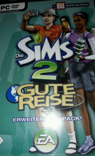"""sparen25.depc spiele Die SIMS2 Deutsch für PC Erweiterung """"Gute Reise""""sparen25.info , sparen25.com"""