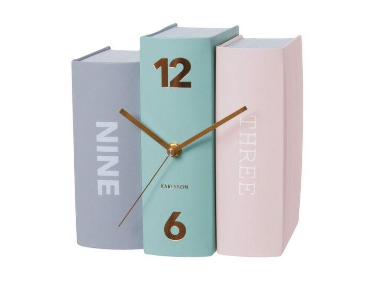 """Zegar stołowy w kształcie ksiązki """"Book paper"""" Karlsson"""