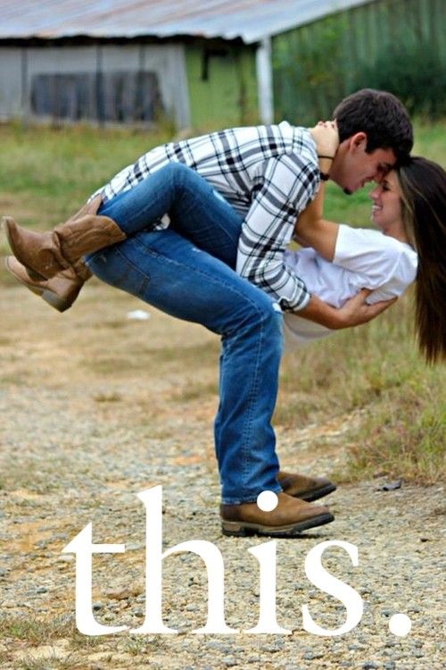 country love engagement photo idea. Bo might hurt his back, but I love this picture. Haha.