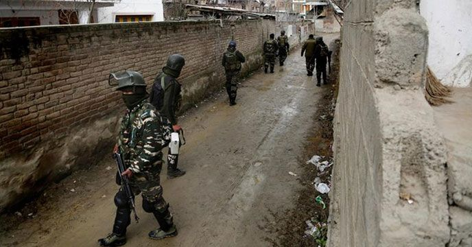 Srinagar: Security forces in Jammu and Kashmir's Baramulla district have started cordon and search operations after two terrorists were believed to be hiding in the area. The terrorists were spotted in Sopore's Shangergund area. Details Awaited.