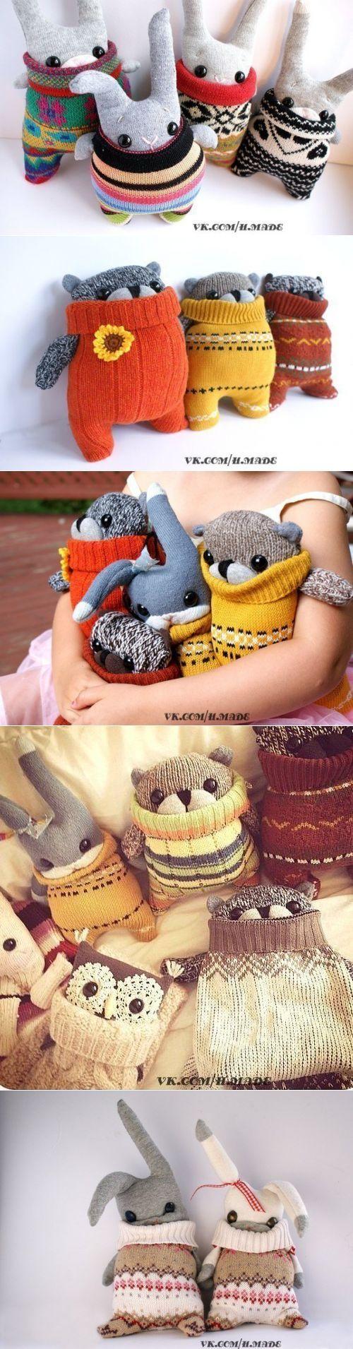 Мягкие друзья в свитерочках. Идея игрушек
