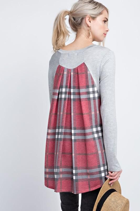 Highland Top - Red Plaid