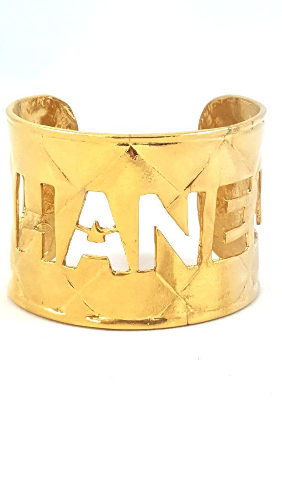Vintage CHANEL Cuff Bracelet Authentic ICONIC by GalleryThreeSixty