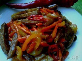 """Чисанчи очень вкусное горячее блюдо китайской кухни. У нас в народе называют ещё """"жареная тройка"""", потому что в его состав входят 3 основных овоща - картофель, баклажан, перец сладкий. Готовится очень..."""