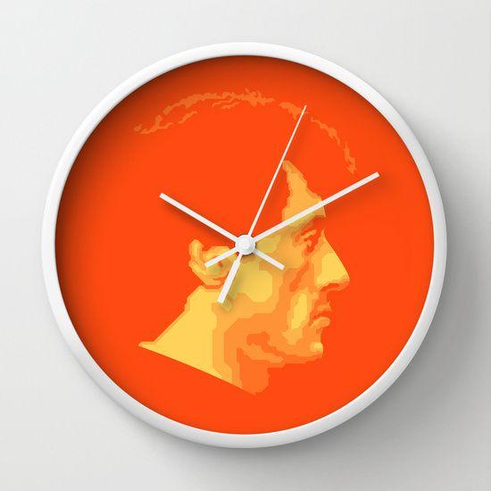 SYLVESTER STALLONE Wall Clock @ http://society6.com/product/sylvester-stallone_wall-clock#33=283&34=285