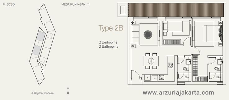 Type 2B Arzuria Apartment Jakarta