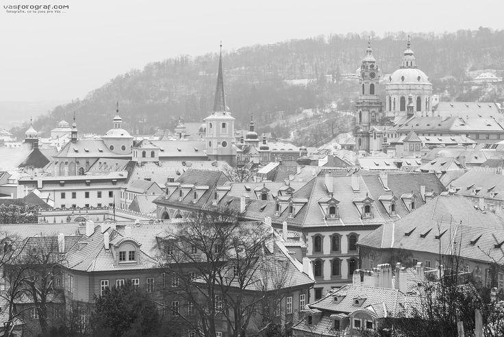 Snow in Prague