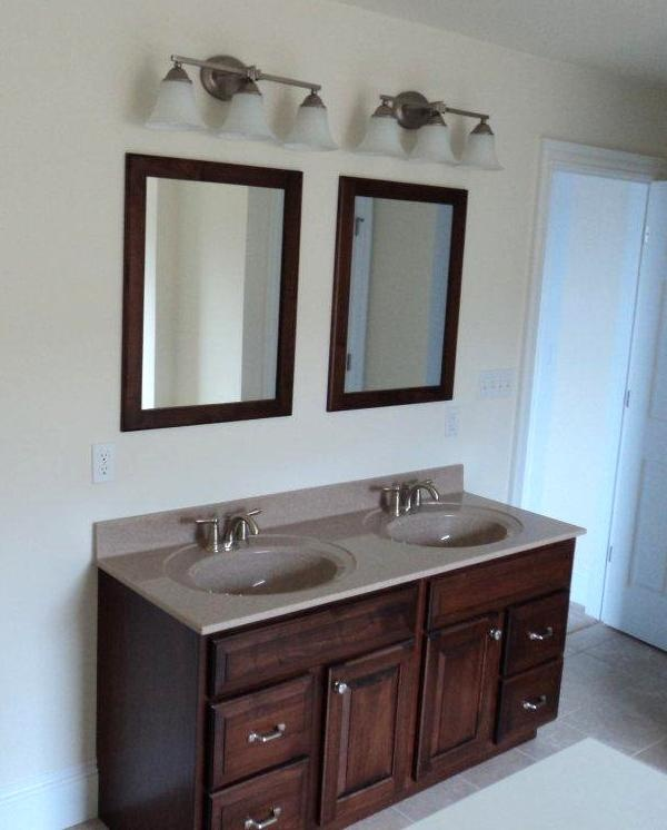 Double Bowl Vanity Tops For Bathrooms: Double Bowl Vanity With 2 Separate Mirrors (12-77