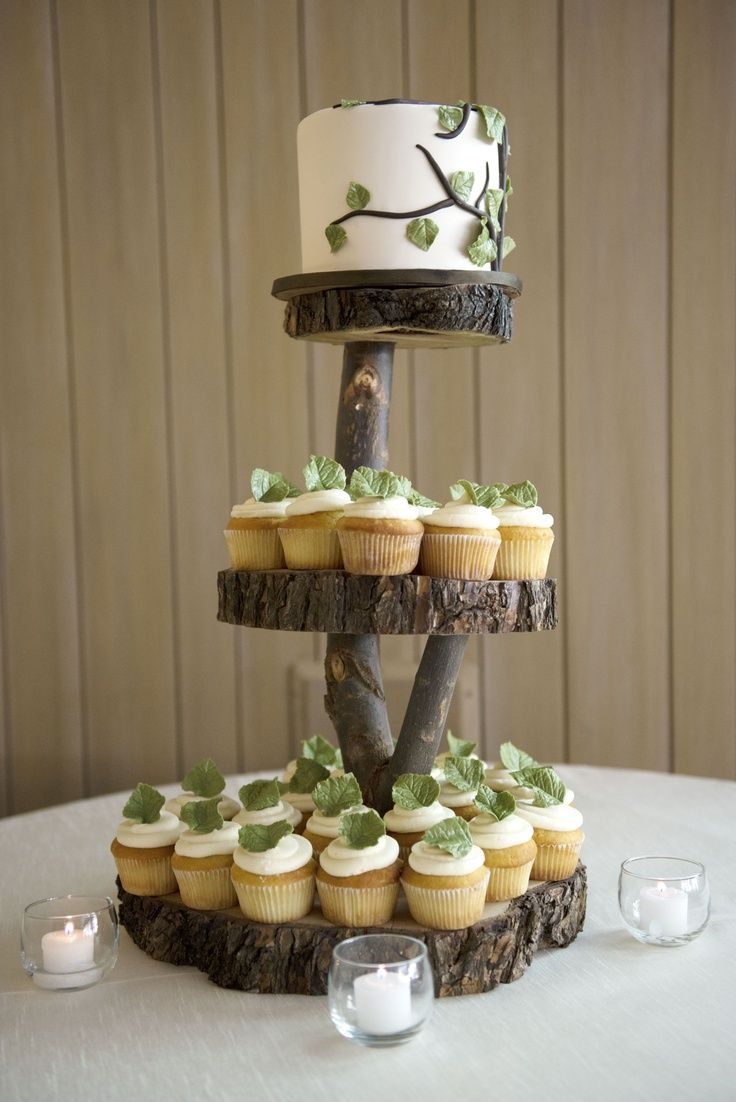 Uncategorized cupcake stands for weddings cheap - Wood Wedding Cake Stand Wedding And Bridal Inspiration