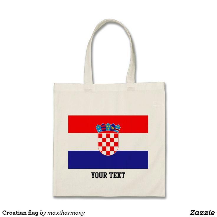 Croatian flag budget tote bag