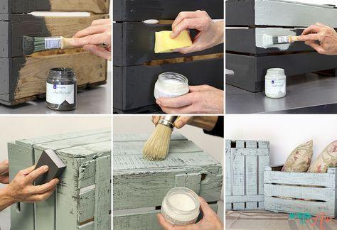 Tutorial: Chalk Paint con la Pajarita / El Blog de Mi tienda de Arte
