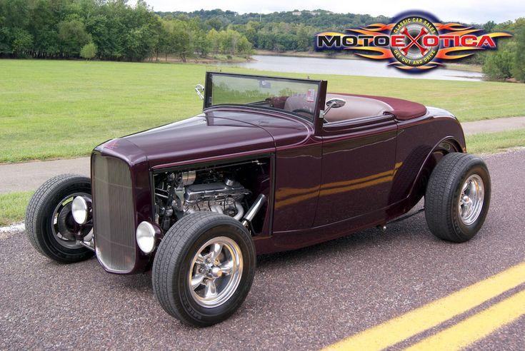 Hot Rod Drawing | 1932 Ford HighBoy Convertible | MotoeXotica Classic Car Sales