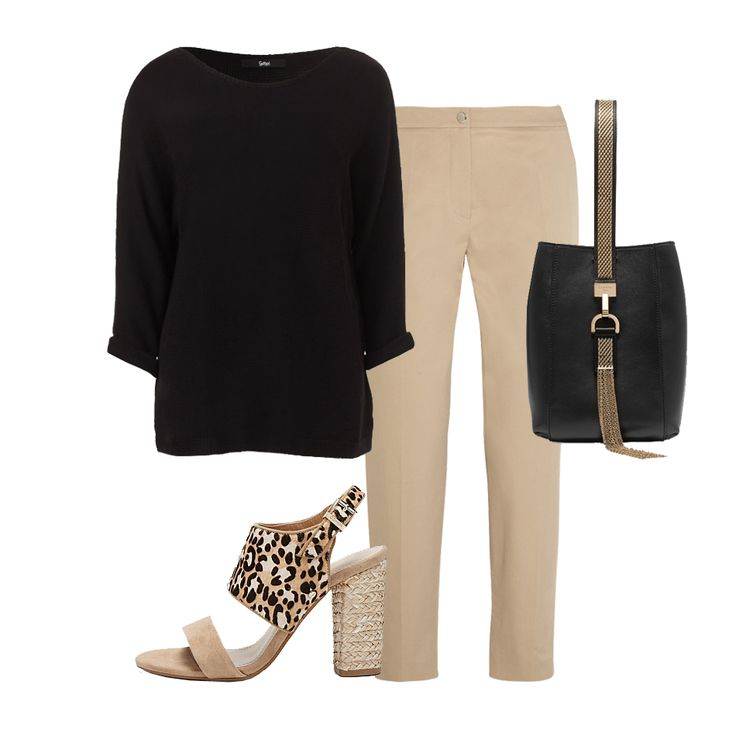 Beige and Black combine to create this styklish look. Styled by Natural White Interiors. Sportsgirl. Kenzo. Lanvin. Mimco.
