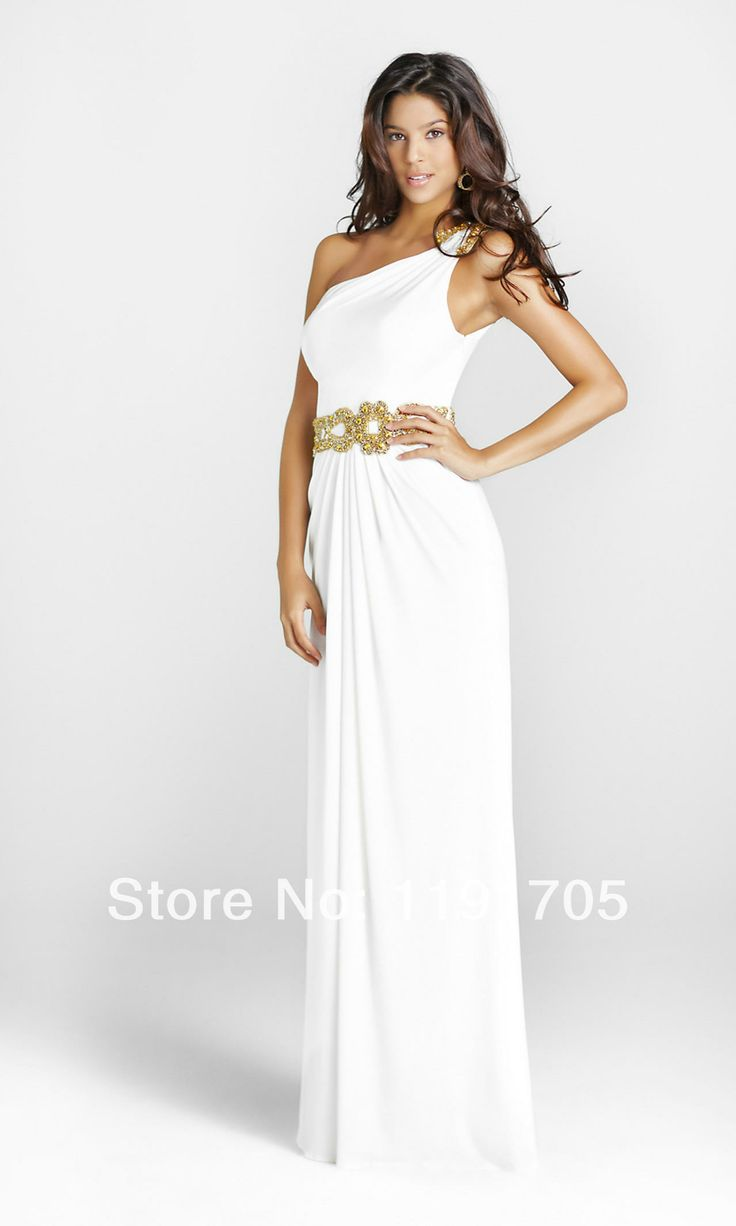 17 Best ideas about One Shoulder White Dress on Pinterest | Ruffle ...