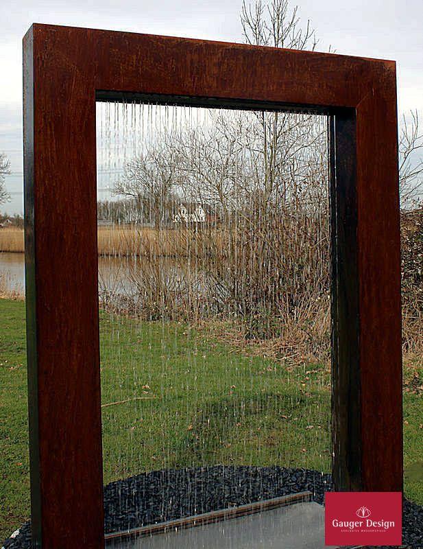 http://www.designer-brunnen.de/Cortenstahl/gartenbrunnen cortenstahl-wassertor.htm