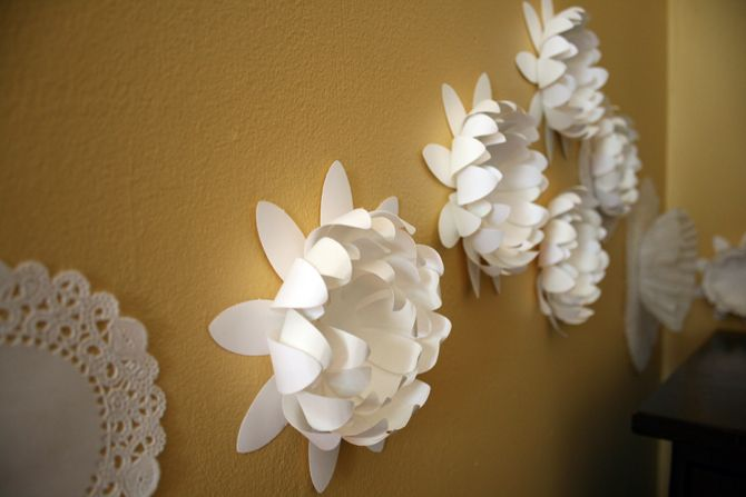 Wall Art From Paper : Paper flowers wall art miscellany