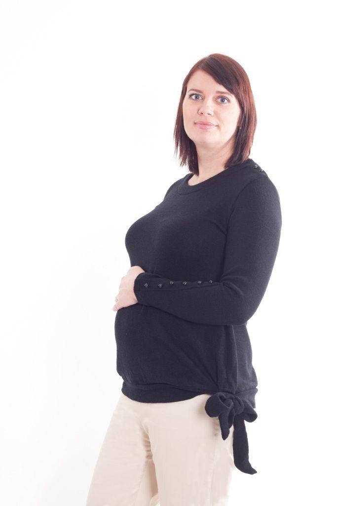 Maternity black sweater