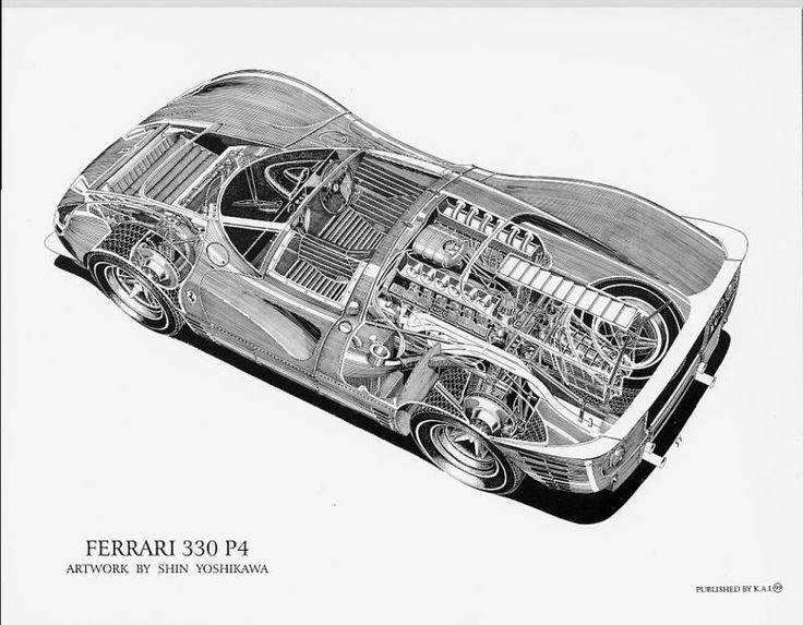 Best Race Car Cutaway Images On Pinterest Cutaway Drawings