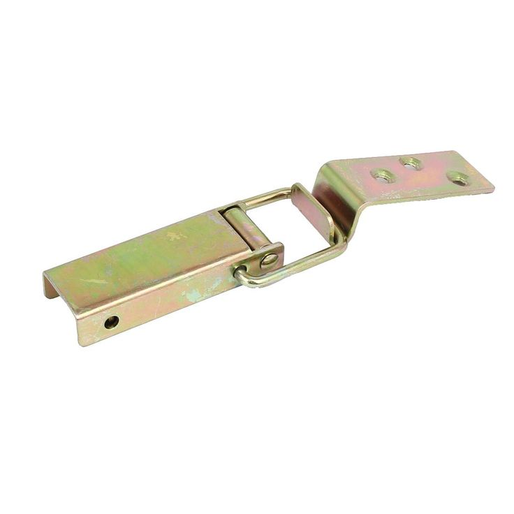 Wooden Case Equipment Box Metal Yellow Zinc Plated Toggle Latch 98mm Long Hasp
