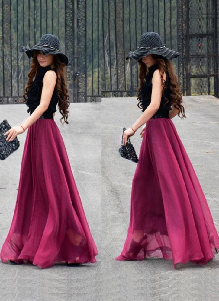 Cool Maxi Skirts Long Skirts Maxi Skirt Outfits Black Maxi Skirt Outfit