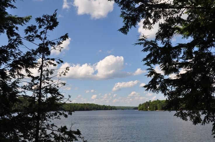 Beautiful Gull Lake near Minden, Ontario