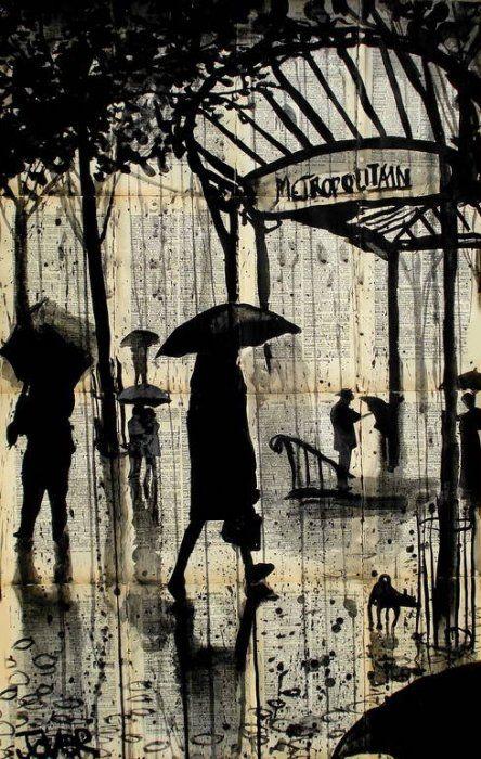 Loui Jover рисунки на книжных страницах