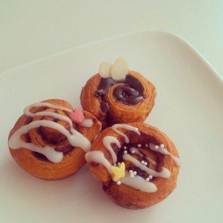 Mini cinnamon buns #homemade #cinnamonbuns