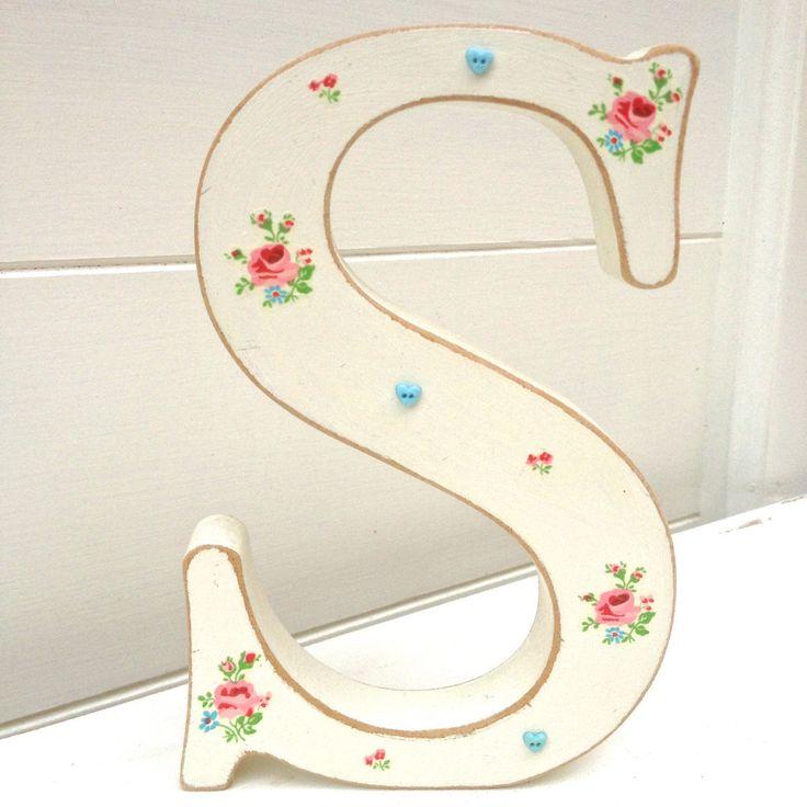 Shabby Chic Letters, Wedding Letters, Freestanding Letters, Decoupage Letter, Custom Initial, Handmade in UK by ChandeliersandRoses on Etsy