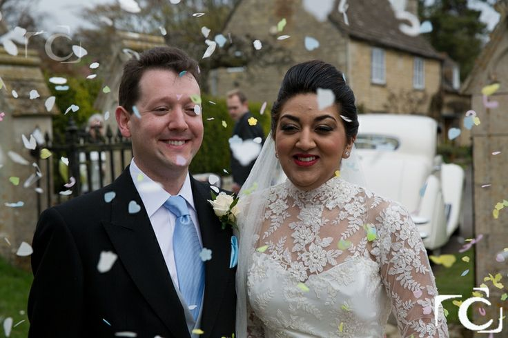 Richard and Maria, Confetti wedding photography at St Peter