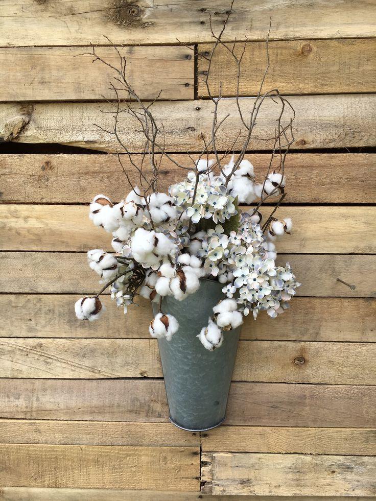 Fall Door Planter, Front Door Wreath, Rustic Tin Planter, Unique Rustic  Fallu2026
