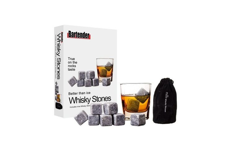 Whiskey Stones - White Apple Gifts Chills your favourite Spirit without diluting their perfectly balanced flavours.  Milled in Vermont by the oldest soapstone workshop in the US. Add three chilled stones to your next drink, let stand for 5 minutes and enjoy.  Rinse and refreeze after use.  Perfect for those who like it straight up!
