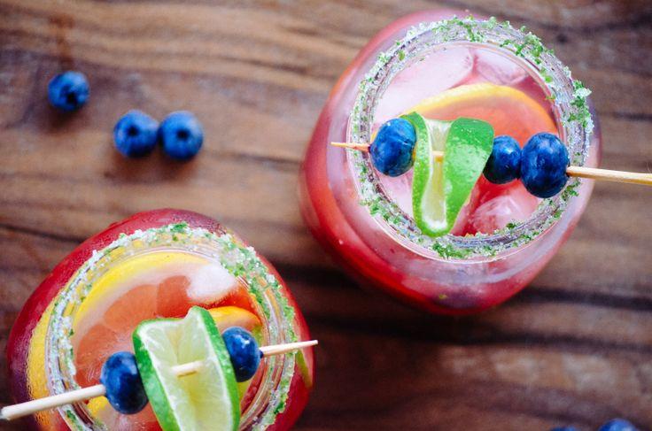 Fresita Sangria with Sugar Lime Rim – Recipe