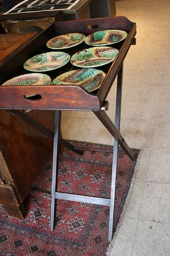 Victorian serving tray | Side table
