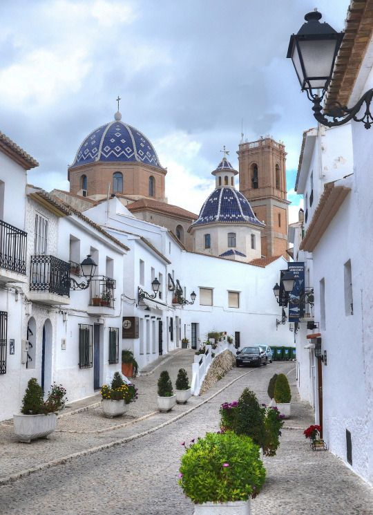 Altea church, Alicante | Spain (by Baz Richardson)