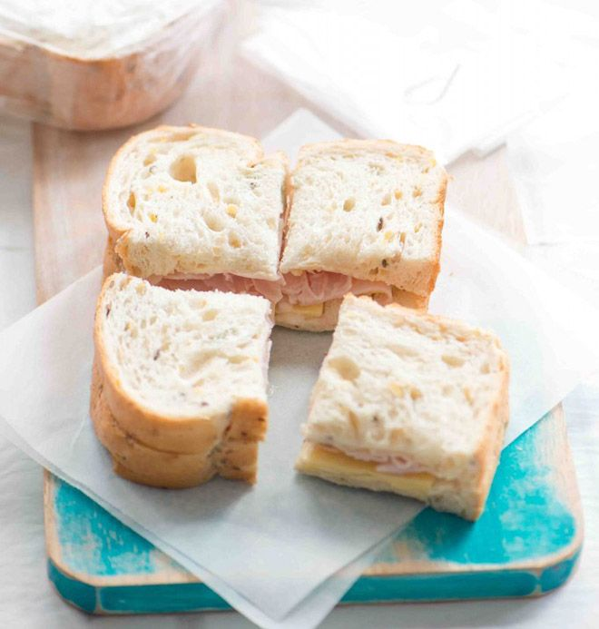 There are loads of sandwich ideas that can be put in the freezer ahead of time, making the school lunches super easy!