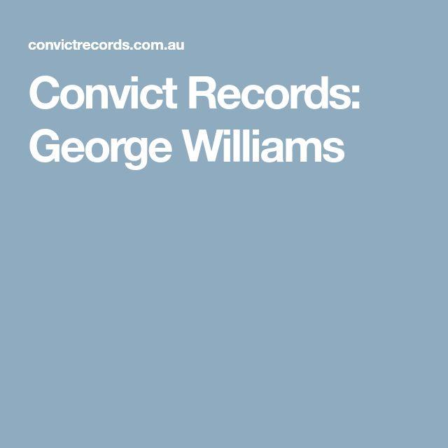 Convict Records: George Williams