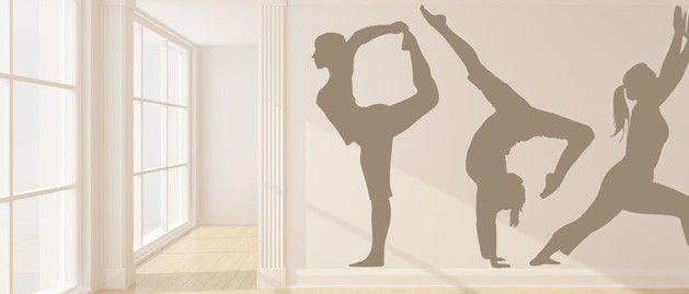 Gymnastka moderní (1409) / Samolepky na zeď, stěnu a nábytek