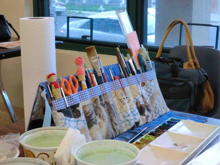 Paint Brush holder - Hand made