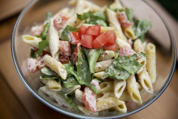 BLT Pasta Salad with Bacon Jam | Bacon Motherfuckers! | Pinterest
