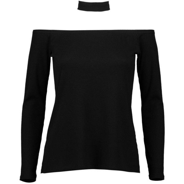 Boohoo Niamh Bardot Detachable Choker Jumper | Boohoo ($16) ❤ liked on Polyvore featuring tops, sweaters, turtle neck sweater, animal print sweater, nordic sweater, knit sweater and knit turtleneck