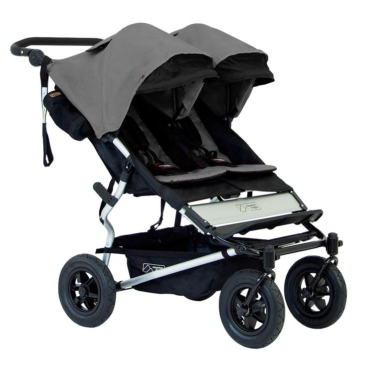 mountain buggy duet 2.5 all terrain compact double stroller 3/4 view chilli