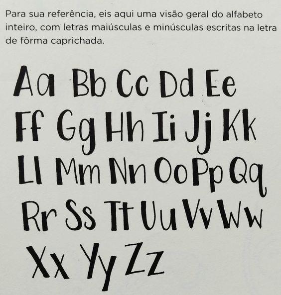 Alfabeto letra de forma caprichada