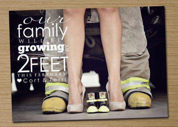 Pregnancy announcement Printable Growing by 2 door CardsEtcetera, $15.00