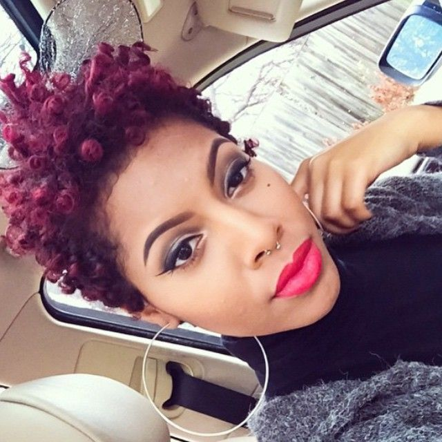 http://www.shorthaircutsforblackwomen.com/short-hairstyles-for-black-women/ Sassy, and she's not afraid to speak without opening her mouth.
