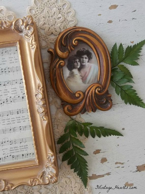 Vintage Baroque Romantic Photo Frames. Pair of by 3vintagehearts